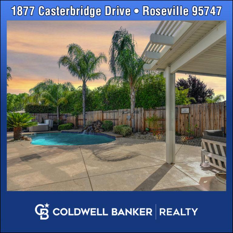 1877 Casterbridge Drive Roseville 95747 - home for sale pool
